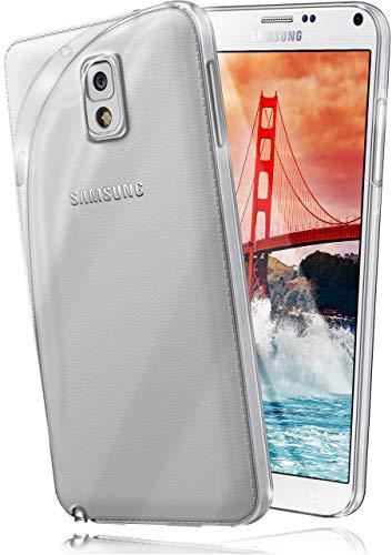 moex Aero Hülle kompatibel mit Samsung Galaxy Note 3 - Hülle aus Silikon, komplett transparent, Klarsicht Handy Schutzhülle Ultra dünn, Handyhülle durchsichtig einfarbig, Klar