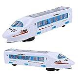 Juguete de riel de alta velocidad, rueda universal eléctrica Interesante tren eléctrico encantador con 4 juguetes de tren de alta velocidad ligeros, para bebés y(High-speed rail model toys)