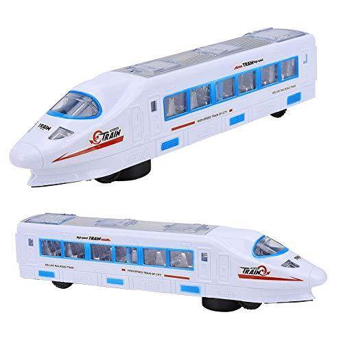 Modelo de tren de alta velocidad, modelo de riel de alta velocidad con rueda universal eléctrica, ventana transparente para bebé y niño(High-speed rail model toys)