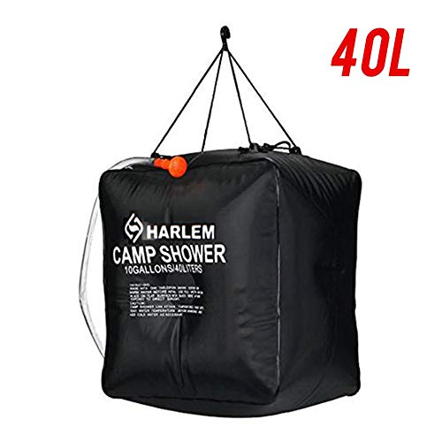 Buy Discount Solar Shower Bag, 10 Gallons/40LSolar Heating Camping Shower Bag with Removable Hose and On-Off Switchable Shower Head Camping Accessories for Outdoors Beach Swimming Travel Hiking