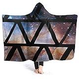 YUDILINSA Manta con Capucha,Universo Estelar Triangular,Suave Siesta ponible Mantas de Viaje/Vacaciones/Casual 60x50