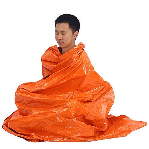 Nooddeken Waterdicht Mylar Thermische Tent Opvouwbare Militaire Rescue Survival Sheet Reflectie Deken Oranje