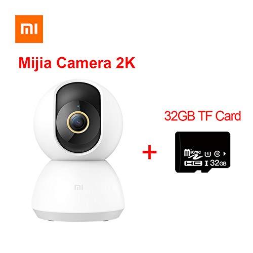 Xiaomi Mijia Smart IP-Kamera 2K 360-Winkel-Video CCTV WiFi Nachtsicht Drahtlose Webcam Überwachungskamera Baby Monitor mit 32 GB TF-Karte anzeigen