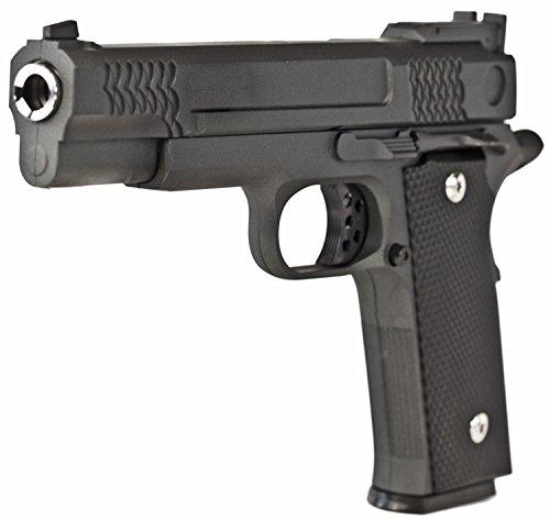 Nick and Ben Vollmetall Softair-Pistole G.Twenty schwarz 6 mm ABS ca. 23 cm ca. 700g unter 0,5 Joule ab 14 Jahre Softair-Waffe Air-Soft Spielzeug-Pistole Kinder-Pistole