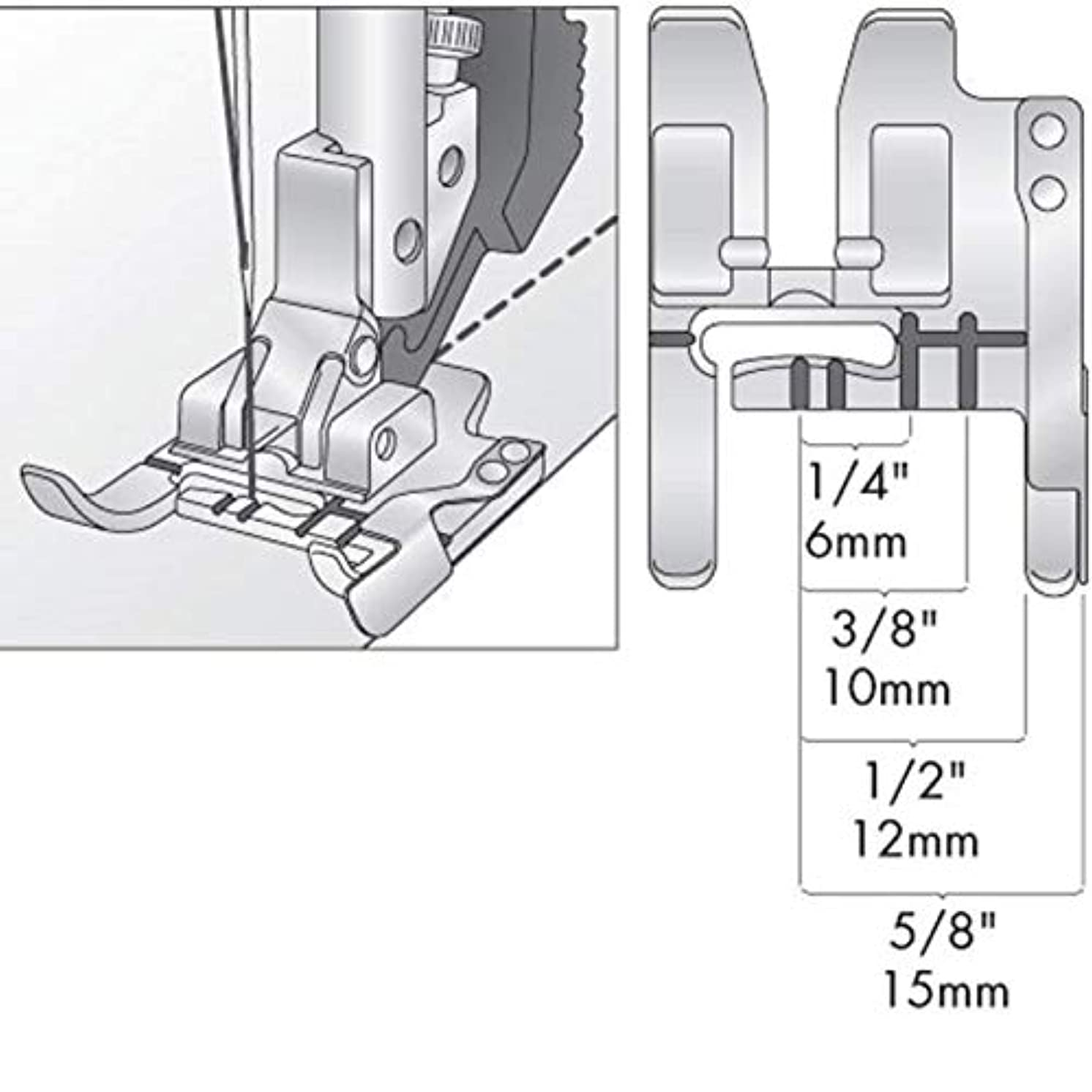 NgoSew Seam Guide Foot works with PFAFF Sewing Machines with IDT system #820772096