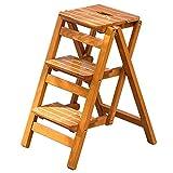LJWJ スツール 椅子 ホームステップ 折りたたみステップ 高 木製はしご 階段 棚 脚立 デュアルユース クライム 3段ラダー 多機能 家庭用 キッチン 屋内 アセンド モダン シンプル,あ