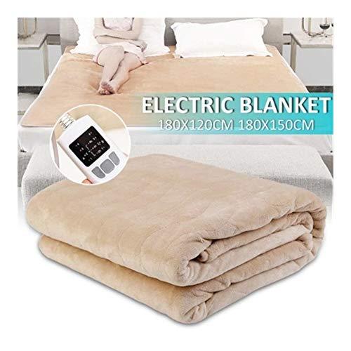 180 cm waterdichte elektrische flanellen deken, dubbele verwarming, dubbele lichaamswarmer, bed, verwarmde oplegger, wintermatras, tapijt, met afstandsbediening YSJ LTD