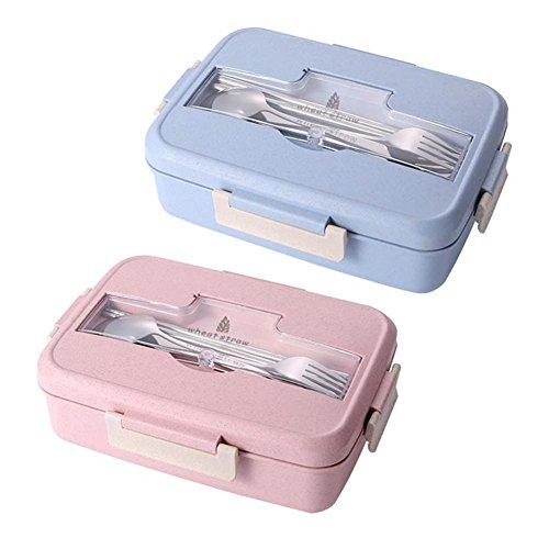 Lunch Box Boîte Isotherme Chaud Compatiment Boîte Repas Isotherme Étanche Hermetique En Plastique Sans BPA Longue Avec 3 Compatiments Réutilisable - Boîtes Bento, Parfaite Pour Enfant Bebe Adulte
