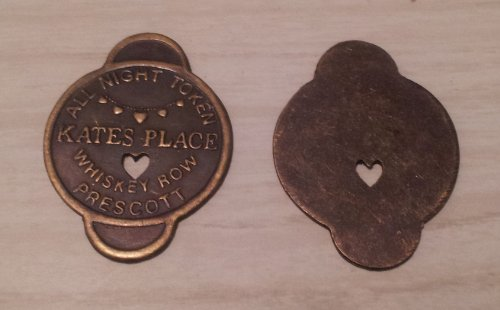Kate's Place Solid Brass Brothel Token