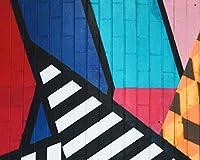 数字で描くグラフィティアートストライプカラフルなDiyリビングルーム数字で彩る装飾アート家の装飾アート画像油絵の具カラー原稿 カスタマイズ可能 60x75cmフレームなし