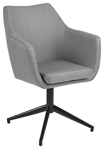 AC Design Furniture Trine Silla de Comedor, Tela/Metal, Gris Claro, B: 58 T: 57 H: 83,5 cm