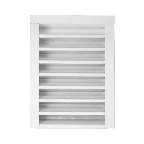 Gibraltar Building Products 14 In X 18 In Rectangular White Galvanized Steel Built In Screen Gable Louver Vent Brickseek