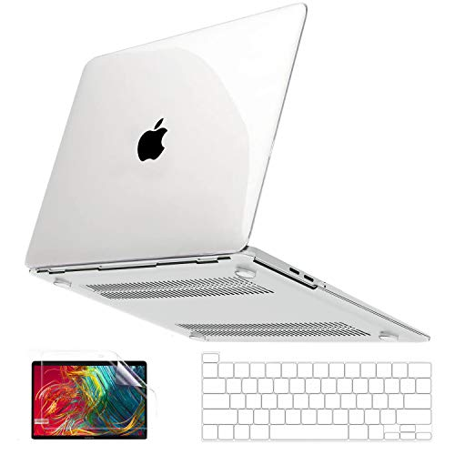 Anban MacBook Pro 13 inch Case 2020 2019 2018 Release A2338 M1 A2251 A2289 A2159 A1989 A1706 A1708, Crystal Clear Plastic Hard Shell + Keyboard Cover + Screen Skin Compatible with Mac Pro 13 Touch Bar