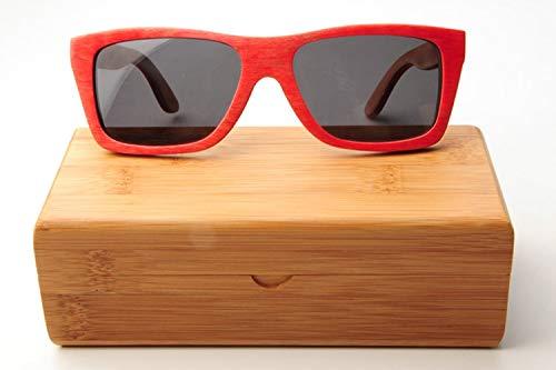 Mode rechteckige Sonnenbrille Fall handgemachte natürliche Bambus Holz Sonnenbrille Box Bag