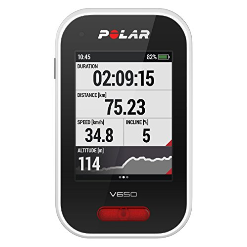 Polar - V650 - Compteur Vélo GPS Intégré - Mixte Adulte - Blanc Moyen