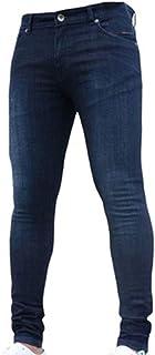AnyuA Jeans da Uomo Skinny Elasticizzati Slim Pantaloni Leggeri Comodi