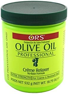 Ors Olive Oil Creme Relaxer Extra Strength 18.75oz Jar (3 Pack)