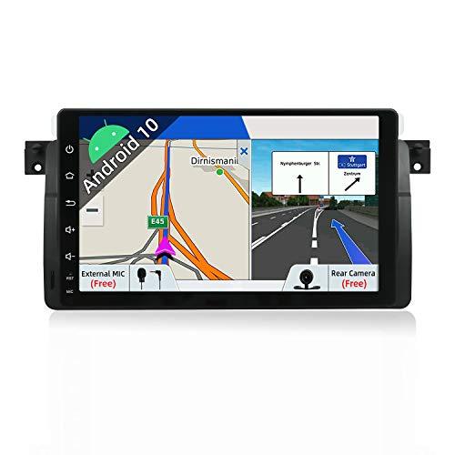 JOYX Android 9.0 Autoradio Passt für BMW E46 3er M3 320 325 Rover75 MG ZT In Dash Navigation | Rückfahrkamera Canbus KOSTENLOS | 2G+32G | 9 Zoll GPS 1 Din | MIT Lenkradsteuerung 4G WiFi DAB Bluetooth
