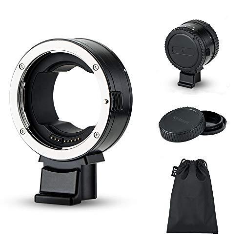 JJC EF-EOS R レンズマウントアダプター Canon EF/EF-S - RF マウント 転換 EOS R5 R6 R RP Ra カメラ用 オートフォーカス 自動絞り