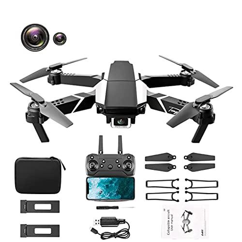 J-Clock Drone 4K HD Doppia Fotocamera, Posizionamento visivo WiFi FPV Pieghevole a Quattro Assi Che Mantiene l'altezza Rc Quadcopter Drone Giocattolo