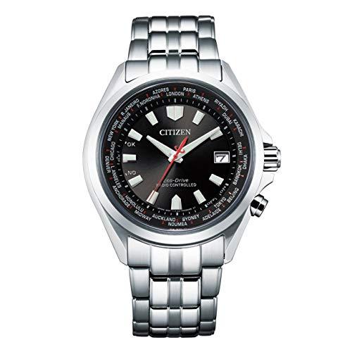 Citizen Reloj de hombre de acero inoxidable, radio solar, Eco-Drive, cristal de zafiro, CB0220-85E