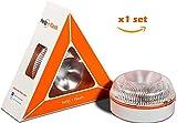 Help Flash - luz de Emergencia AUTÓNOMA, señal v16 de preseñalización de Peligro y Linterna,...