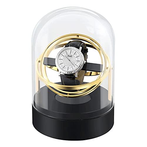 ANTLSZH Reloj Automático Winder con Motor Running Tranquilo Reloj Flexible Almohadas De Lujo Fibra De Cuero Caja De Almacenamiento para Relojes De Hombre/Mujer