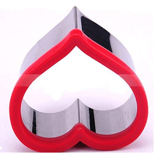 Stainless Steel Heart Sandwich Cookie Cutter Baking Mold