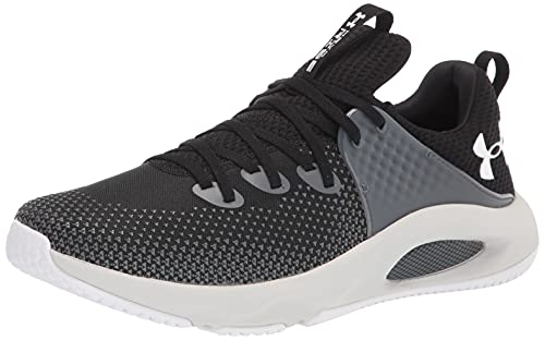 Under Armour Men's HOVR Rise 3 Cross Trainer, Black (002)/Halo Gray, 12