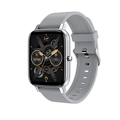 2021 Nuevo Reloj Inteligente para Mujeres Y Hombres,Smartwatch con Pantalla Táctil De 1,69',Cronómetro con Podómetro Y Rastreador De Ejercicios A Prueba De Agua IP67,para Teléfono iOS Android,E