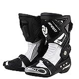 Hombres Blanco Racing Motocross Shoes PRO - Botas de motocic
