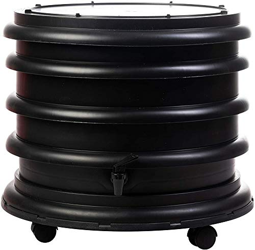 WormBox : Wurmkomposter Wurmfarm mit 2 Schalen Schwarz - 32 Liter