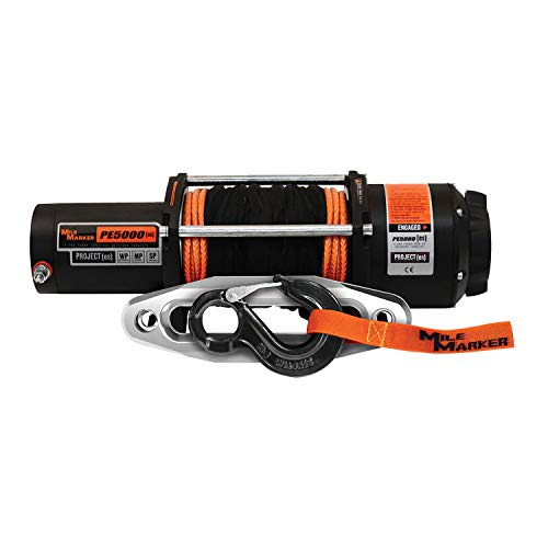 Mile Marker 77-53120W PE5000(ES) UTV/Side-by-Side Premium Sealed Electric Winch w/Synthetic Rope - 5,000 lb. Capacity