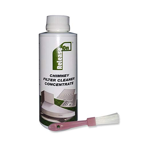 Release On Kitchen Chimney Filter Cleaner Concentrate Liquid with Brush - 250 ml (Pack of 1)