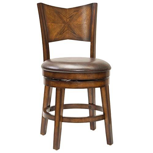 Hillsdale Furniture Swivel Stool in Rustic Oak Finish (30 in. Bar Height)