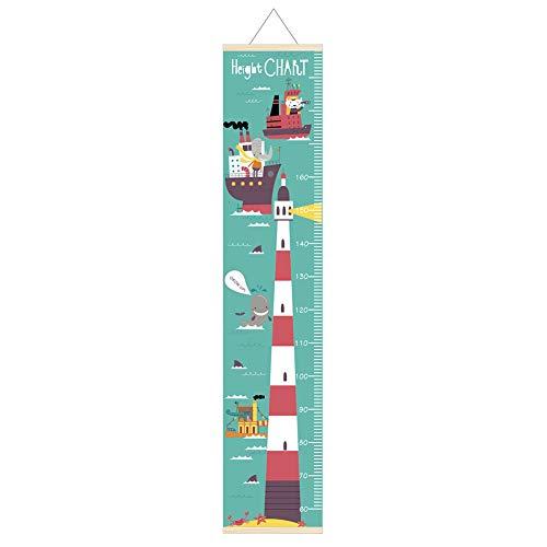 pengyu Messlatte, Raumschiff Tier Dinosaurier Kinder Messlatte Kinder Growth Wall Hanging Decor – Leuchtturm *