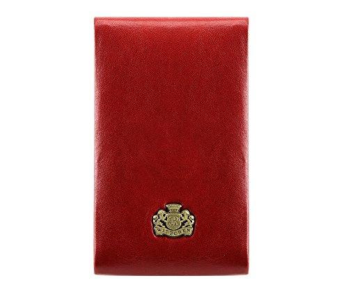 WITTCHEN Etui aus Leder   mit exklusiven Paket   aus hochwertigen Materialien   elegant und klassisch   Rot   7x11 cm