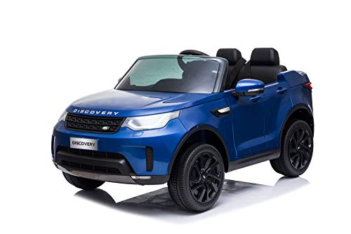 Ricco Land Rover Discovery Licensed 12V Battery Powered Kids Electric Ride On Toy Car with Parental Remote Control LED Lights and Music R1905 BLUE