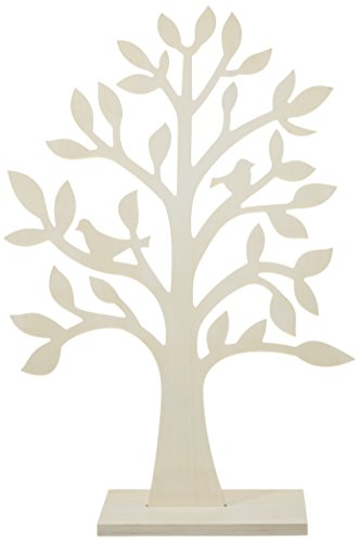 Rayher 62274000 portagioie, espositore gioielli, organizzatore gioielli, albero decorativo legno, 50 cm