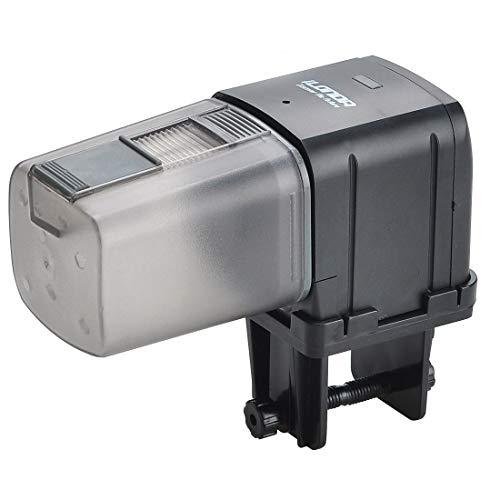 Lychee - Comedero automático para acuario, con temporizador controlado por WiFi, con pantalla LCD para peces, estanques y vacaciones.