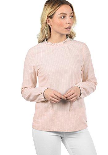 Blend SHE Anni Damen Bluse Shirtbluse Rundhals-Ausschnitt mit Frilkante Regular Fit aus 100{5a499176bcc9b0735d245c9b81dd93b5bde46402dbcd1c06557b0f3554bfe167} Baumwolle, Größe:S, Farbe:Veleid Rose (20405)