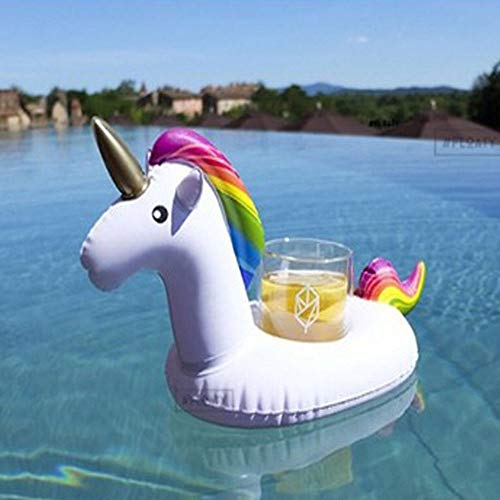 Deals Inflatable Drink Holders - Made from PVC Material - Soft & Durable - Non-Toxic & Reusable - Perfect Drink Floats for Beach, Swimming Pool, Kids Fun & Party Decoration, The Unicorn