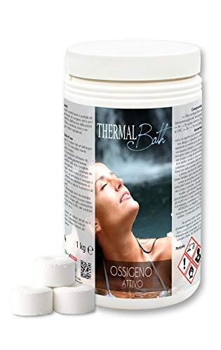 Thermal Bath Ossigeno Attivo 1Kg. in pastiglie da 20gr. Ideale per Piscina o Idromassaggio (Teuco,Jacuzzi,Dimhora,Intex,Bestway,ECC.) Spedizione IMMEDIATA