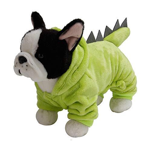01 Ropa para Perros, Disfraz de Dinosaurio Suave para Perros, fotografía para Perros, Gatos, Invierno(XL)