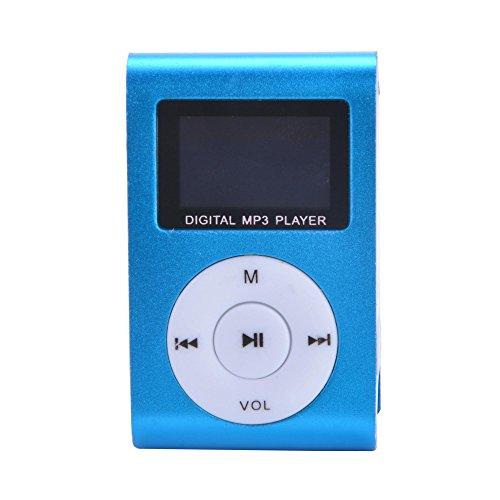 Eastvita Blue Mini MP3 Player Clip USB FM Radio LCD Screen Support for 32GB Micro SD