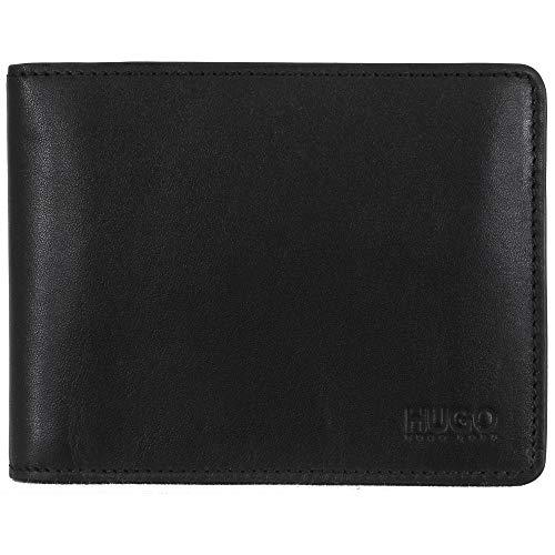 Boss, Arezzo, 50128297, elegante portafoglio in pelle, nero, da uomo