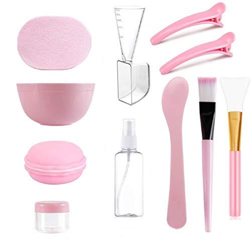 COOLON DIY Gesichtsmaske Rührschüssel Set-Maskenpinsel, Bürste, Gesichtspflege Schüssel, Schwamm, Silikon Gesichtspflege Tools Kit, für Gesichtsmaske,Augenmaske,Serum oder DIY