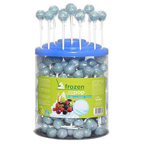 Cerdán Frozen Pop Sabor Yogur Frutas del Bosque Caramelos Redondas Macizo con Palo 200 Unidades de 8.5 g