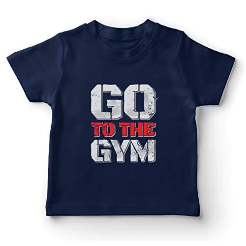 lepni.me Camiseta para Niño/Niña IR al Gimnasio Equipo de Entrenamiento de Fitness...