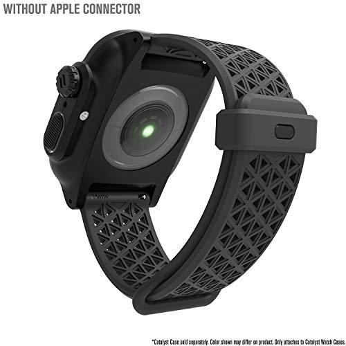 Catalyst Sport Band per Apple Watch Series 4-44mm-, Serie 3,2,1-42mm-, Ipoallergenico,Traspirante, Sgancio rapido, Compatibile con Le Casse, connettori per Altre Marche Non Incluse, Grigio